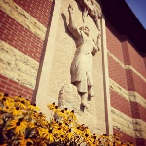 Christ relief sculpture