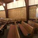 Temporary wall in back of sanctuary